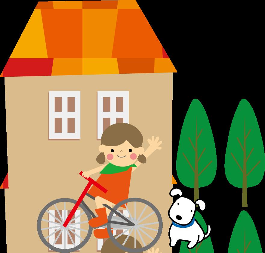 家と子供のイラスト 無料イラスト フリー素材