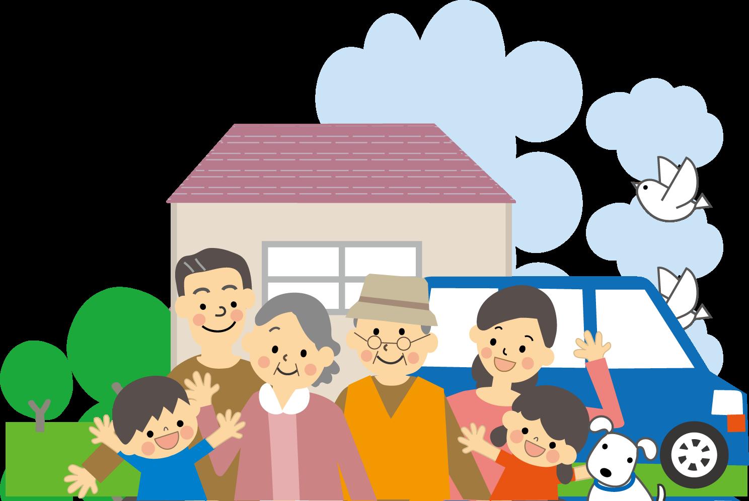 家族のイラスト/無料イラスト・フリー素材2