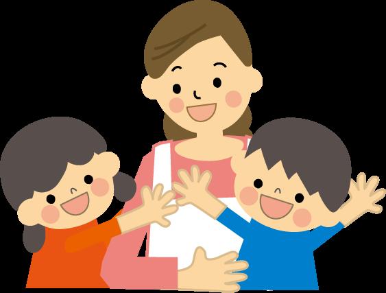 親子 保育士 子どものイラスト 無料イラスト フリー素材