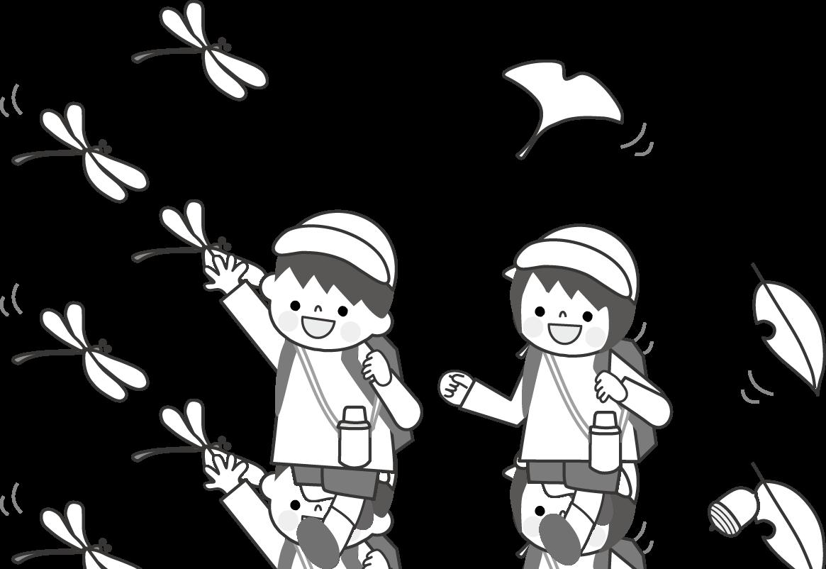 遠足のイラスト(学校)無料イラスト/フリー素材2