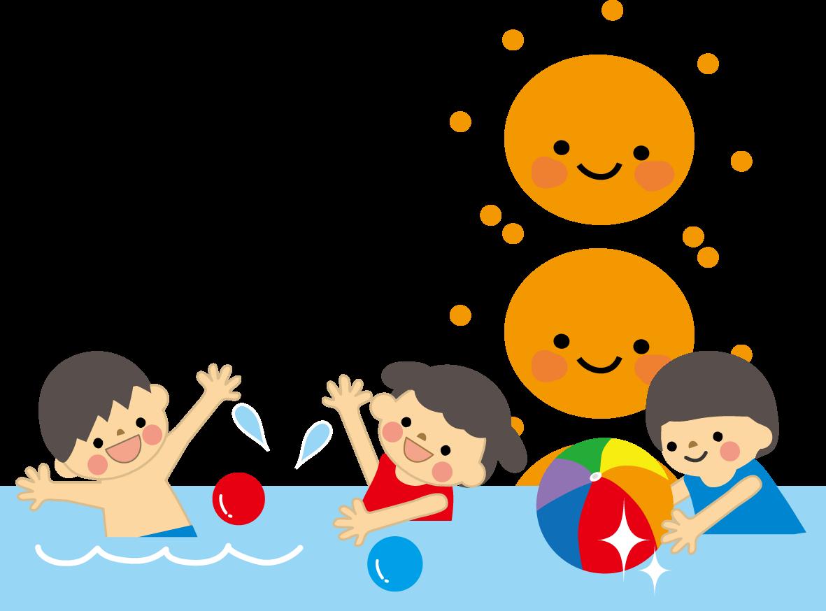 プール・水泳のイラスト・無料 ... : 水遊び 幼児 : 幼児