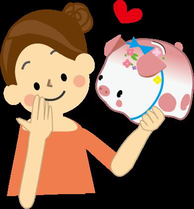 貯蓄のイラスト・無料イラスト 貯蓄・投資・貯金イラスト(無料イラスト)フリー素材 こどもや赤ちゃ