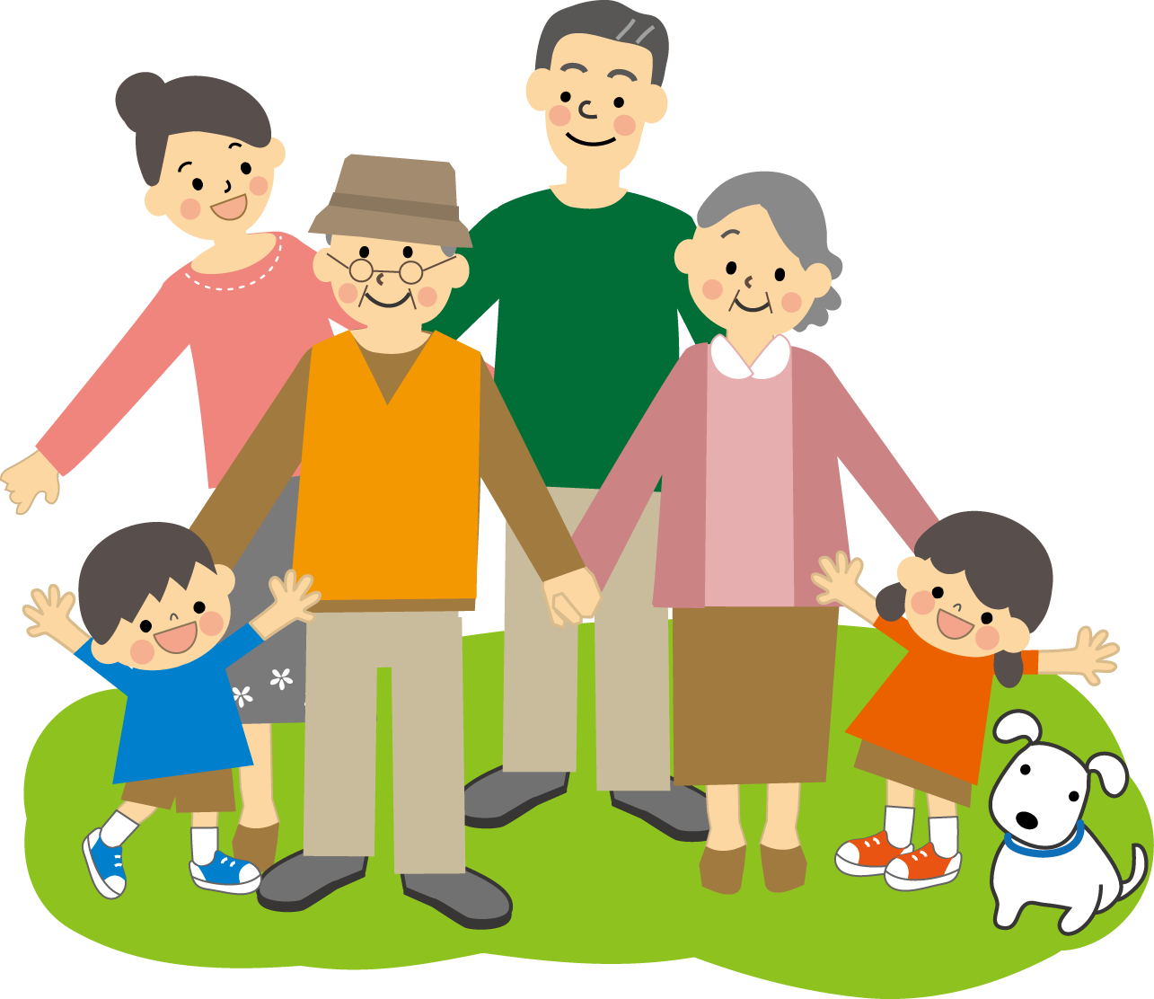 家族ファミリーのイラスト/無料イラスト・フリー素材3